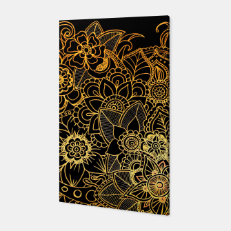 Thumbnail image of Floral Doodle Gold G523 Canvas, Live Heroes