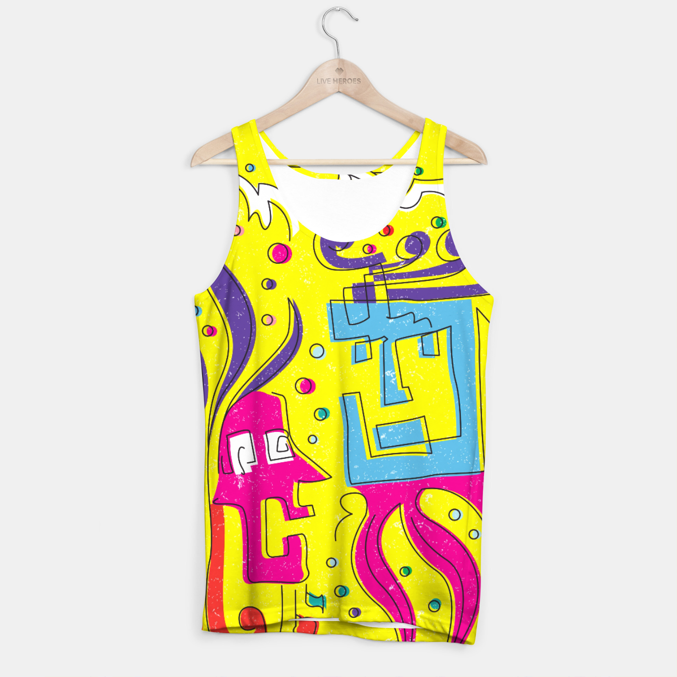 Image of Weird Characters Tank Top - Live Heroes
