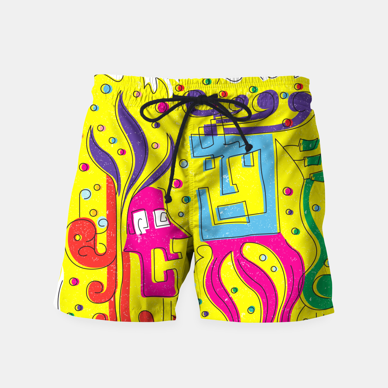 Image of Weird Characters Swim Shorts - Live Heroes