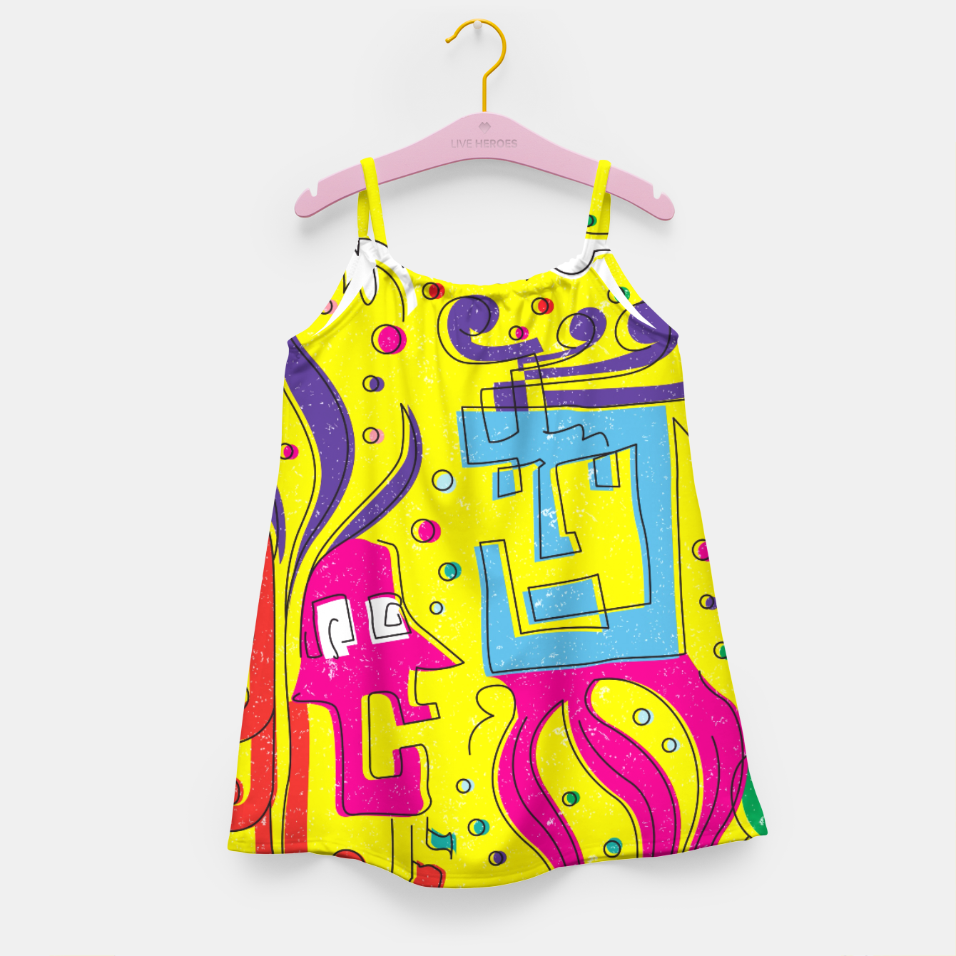 Image of Weird Characters Girl's dress - Live Heroes