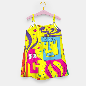 Weird Characters Girl's dress thumbnail image