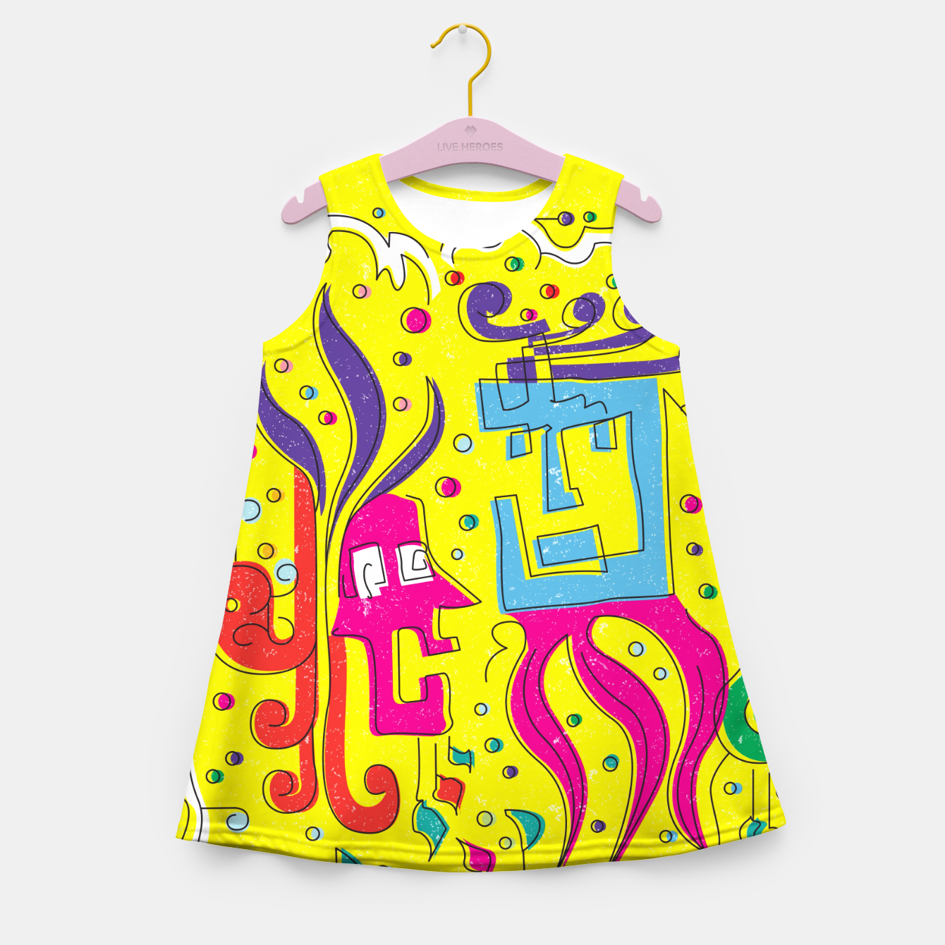 Image of Weird Characters Girl's summer dress - Live Heroes