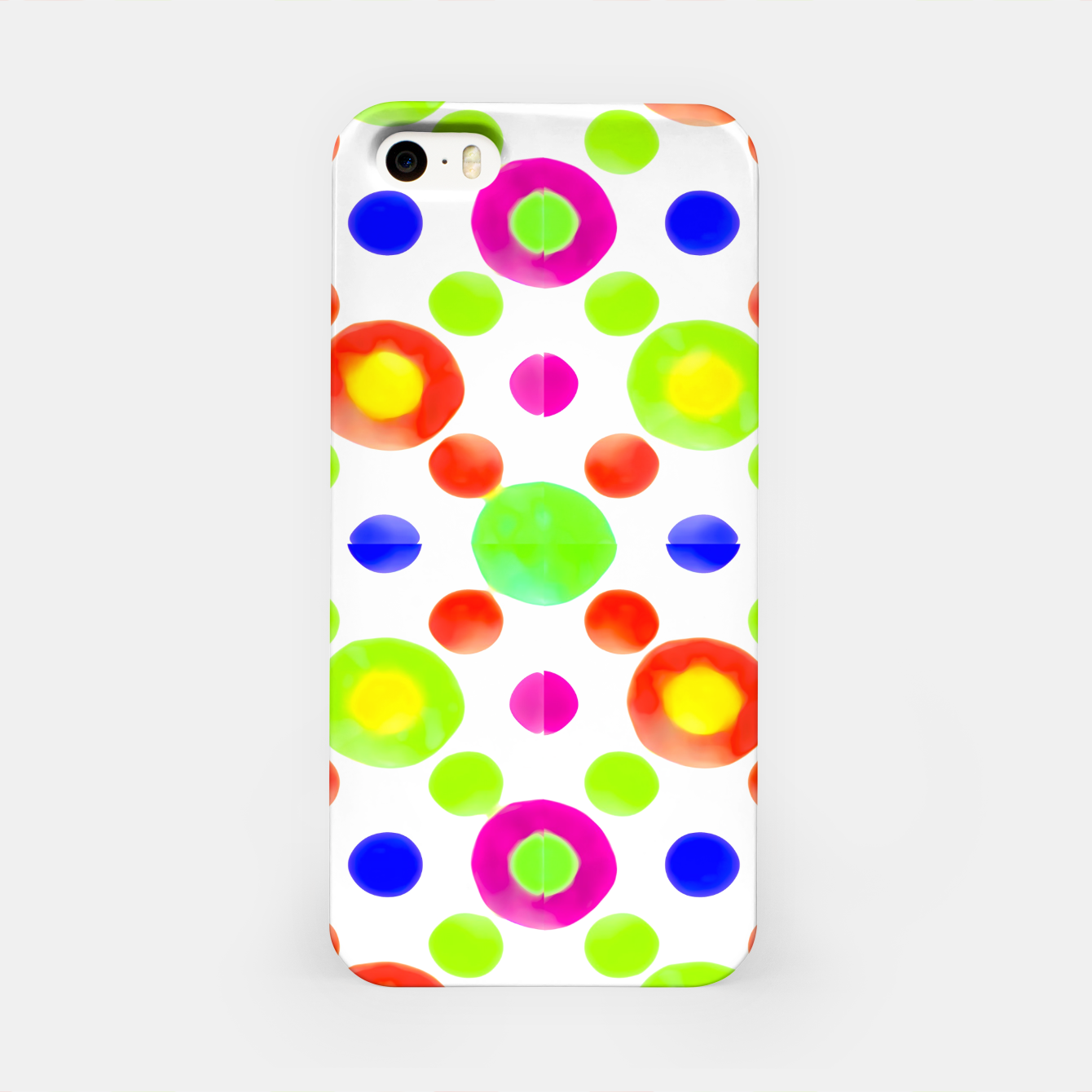 Image of Multicolored Circles Motif Pattern iPhone Case - Live Heroes