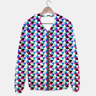 Triangle Pattern – Cotton zip up hoodie thumbnail image