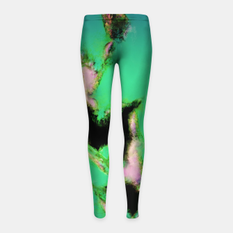 Thumbnail image of A working turquoise engine Girl's leggings, Live Heroes