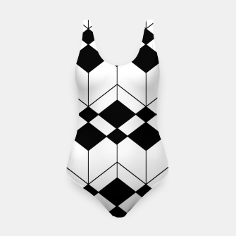 Thumbnail image of Abstract geometric pattern - black and white. Swimsuit, Live Heroes