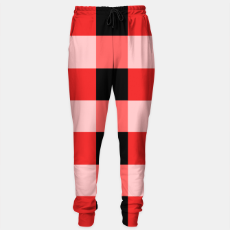 Thumbnail image of Abstract geometric pattern - black and red. Cotton sweatpants, Live Heroes