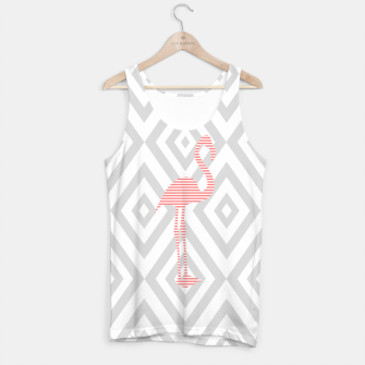 Thumbnail image of Flamingo - Abstract geometric pattern - gray and pink. Tank Top, Live Heroes