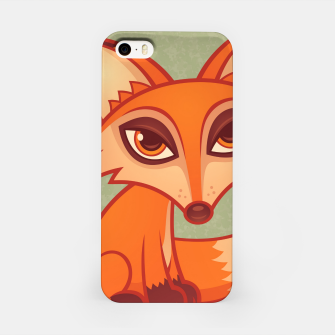 Miniatur Red Fox iPhone Case, Live Heroes
