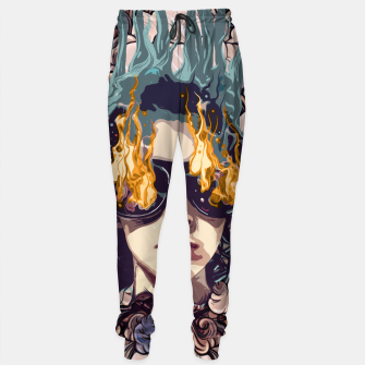 Thumbnail image of The Girl on Fire Cotton sweatpants, Live Heroes