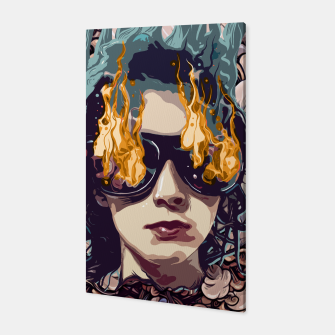 Miniatur The Girl on Fire Canvas, Live Heroes
