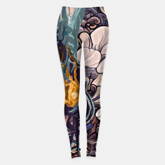 Thumbnail image of The Girl on Fire Leggings, Live Heroes