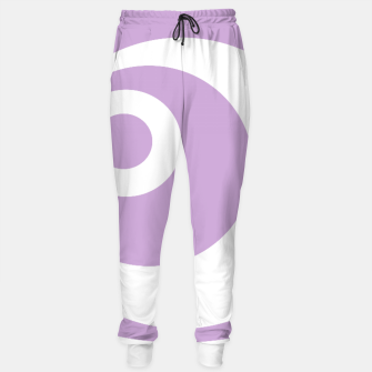Thumbnail image of Abstract pattern - purple and white. Cotton sweatpants, Live Heroes