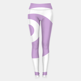 Thumbnail image of Abstract pattern - purple and white. Leggings, Live Heroes