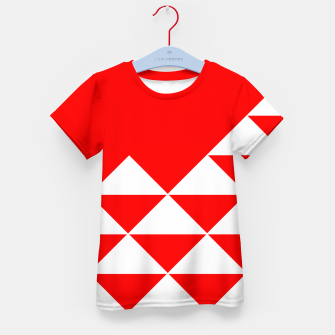Thumbnail image of Abstract geometric pattern - red and white. Kid's t-shirt, Live Heroes