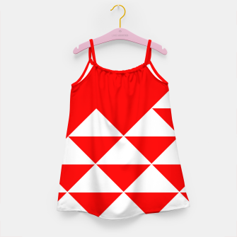 Thumbnail image of Abstract geometric pattern - red and white. Girl's dress, Live Heroes