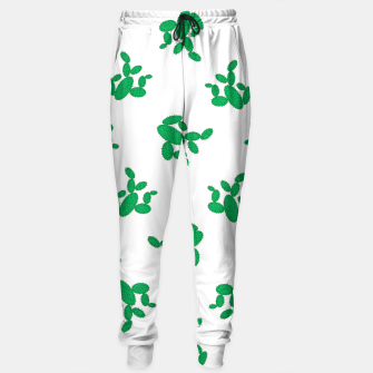 Thumbnail image of Cactus pattern. Cotton sweatpants, Live Heroes