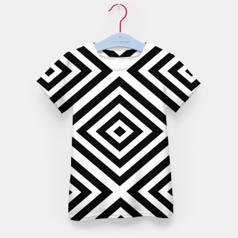 Thumbnail image of Abstract geometric pattern - black and white. Kid's t-shirt, Live Heroes