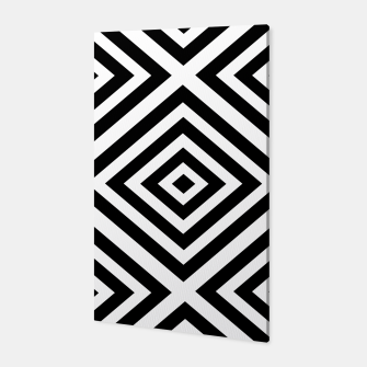 Miniatur Abstract geometric pattern - black and white. Canvas, Live Heroes