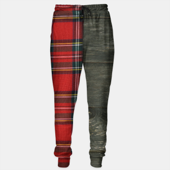 Thumbnail image of tartan Cotton sweatpants, Live Heroes