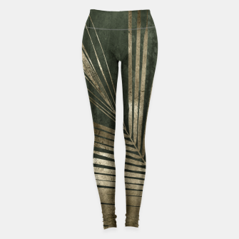 Thumbnail image of golden palms Leggings, Live Heroes