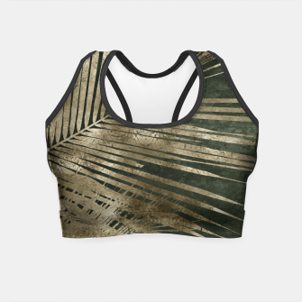 Thumbnail image of golden palms Crop Top, Live Heroes