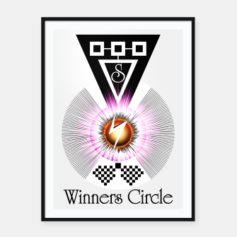 Thumbnail image of Winners Circle Framed poster, Live Heroes