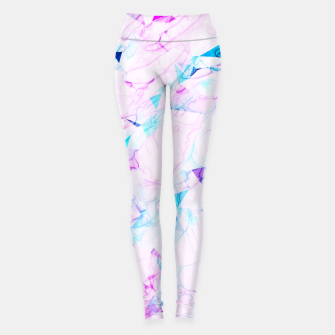 Thumbnail image of psychedelic geometric triangle polygon pattern abstract background in pink purple blue Leggings, Live Heroes