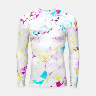Thumbnail image of psychedelic geometric triangle polygon pattern abstract background in pink blue yellow Longsleeve rashguard , Live Heroes