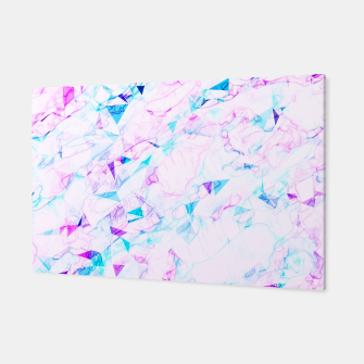 Miniatur psychedelic geometric triangle polygon pattern abstract background in pink purple blue Canvas, Live Heroes