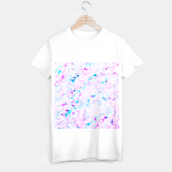 Miniaturka psychedelic geometric triangle polygon pattern abstract background in pink purple blue T-shirt regular, Live Heroes