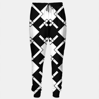 Thumbnail image of Abstract geometric pattern - black and white. Cotton sweatpants, Live Heroes