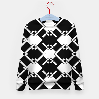 Miniaturka Abstract geometric pattern - black and white. Kid's sweater, Live Heroes