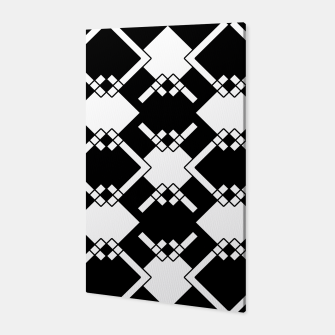 Thumbnail image of Abstract geometric pattern - black and white. Canvas, Live Heroes