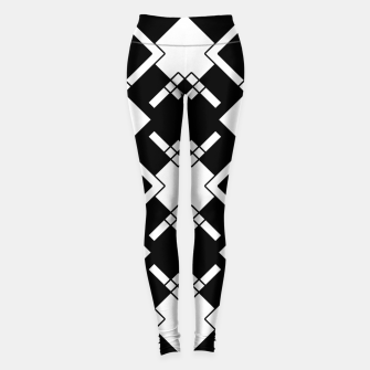 Thumbnail image of Abstract geometric pattern - black and white. Leggings, Live Heroes