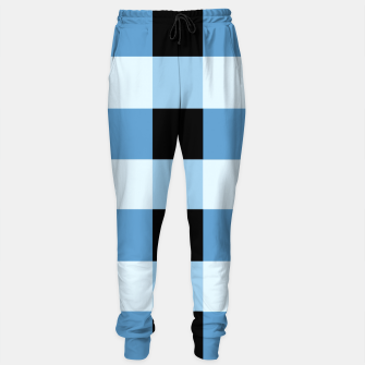Thumbnail image of Abstract geometric pattern - black and blue. Cotton sweatpants, Live Heroes