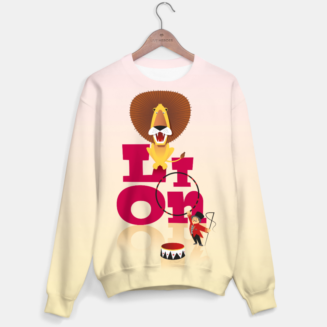 Image of Circus Lion – Cotton sweater - Live Heroes