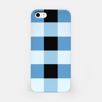 Abstract geometric pattern - black and blue. iPhone Case obraz miniatury