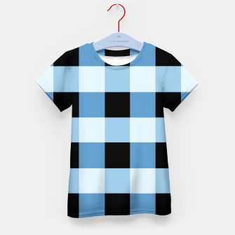 Thumbnail image of Abstract geometric pattern - black and blue. Kid's t-shirt, Live Heroes