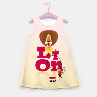 Thumbnail image of Circus Lion – Girl's summer dress, Live Heroes
