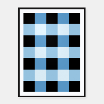 Abstract geometric pattern - black and blue. Framed poster obraz miniatury
