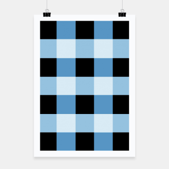 Abstract geometric pattern - black and blue. Poster obraz miniatury