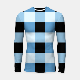 Thumbnail image of Abstract geometric pattern - black and blue. Longsleeve rashguard , Live Heroes