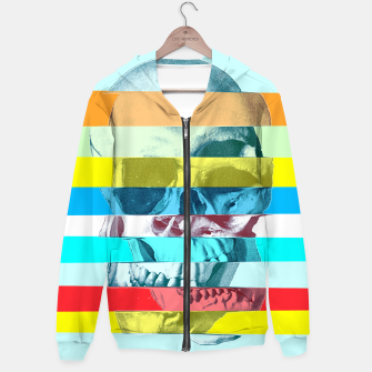 Miniature de image de Glitch Skull Cotton zip up hoodie, Live Heroes