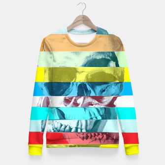 Miniaturka Glitch Skull Woman cotton sweater, Live Heroes