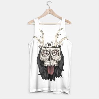 Miniature de image de Psychedelic mushrooms growing on the skull Tank Top, Live Heroes
