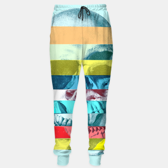 Miniatur Glitch Skull Cotton sweatpants, Live Heroes