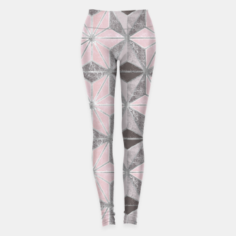 Thumbnail image of Marble star golden rose Leggings, Live Heroes