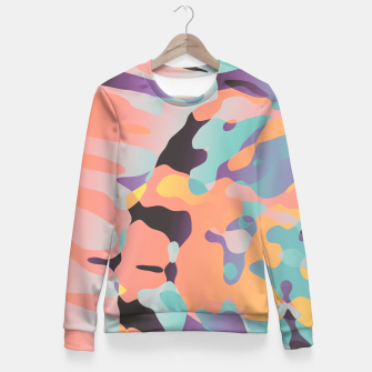 Miniatur Planetary Fragmentation Woman cotton sweater, Live Heroes