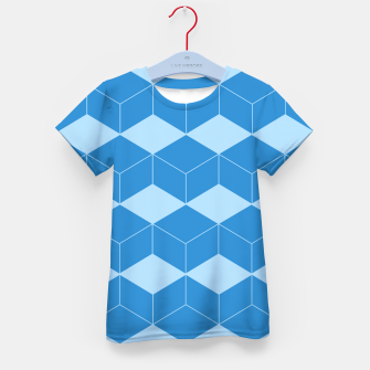 Thumbnail image of Abstract geometric pattern - blue. Kid's t-shirt, Live Heroes